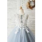Princessly.com-K1004033-Princess Ivory Lace Gray Tulle Wedding Flower Girl Dress-01