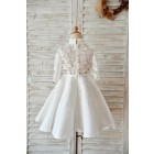 Princessly.com-K1003973-Ivory Lace Satin High Neck Long Sleeves Wedding Flower Girl Dress-01