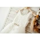 Princessly.com-K1003817-Ivory lace Tulle Spaghetti straps Wedding Flower Girl Dress with Beaded Belt-01