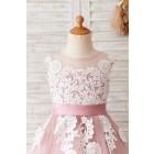 Princessly.com-K1004055-Ivory Lace Mauve/Silver Gray Tulle Wedding Flower Girl Dress-01