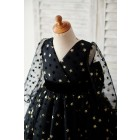 Princessly.com-K1003886-Black Gold Star Tulle V Back Long Sleeves Wedding Flower Girl Dress-01