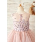 Princessly.com-K1004062-Mauve Lace Tulle Floor Length Wedding Flower Girl Dress-01