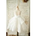 Princessly.com-K1003855-Ivory Organza V Back Wedding Flower Girl Dress-01