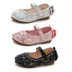 Princessly.com-K1003937-Black/Silver/Pink Crystal Bow Sandals Flower Girl Shoes Baby Girl Wedding Princess Shoes-01