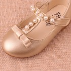 Princessly.com-K1003951-Gold/Sliver Pretty Pearl Wedding Flower Girl Shoes Flat Kids Party Shoes-01