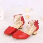 Princessly.com-K1004023-Ivory/Red/Pink Sequin Pearls Flower Girl Shoes Kids Sandals Wedding Shoes-01