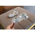 Princessly.com-K1003947-Silver/Gold/Pink Bow Leather Sequin Sandals Baby Dancing Shoes Flower Girl Shoes-01