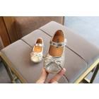 Princessly.com-K1003954-Gold/Silver/Pink Sequin Bow Princess Shoes Kids Flat Sandals Wedding Flower Girl Shoes-01