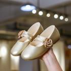 Princessly.com-K1003935-Ivory/Gold/Pink Wedding Flower Girl Shoes Ballet Flat Princess Shoes-01