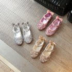 Princessly.com-K1004017-Gold/Silver/Pink Leather Bow Sequin Flower Girl Shoes Wedding Party Princess Shoes-01