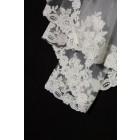 Princessly.com-K1000332-2 Layers Elbow Length Lace Wedding Veil-01