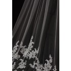 Princessly.com-K1000333-Cathedral Long Length French Lace Appliques Wedding Veil-01