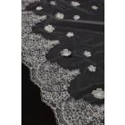 Princessly.com-K1000334-Cathedral Long Length Lace Trim 3D Flower Wedding Veil-01