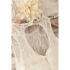 Princessly.com-K1004016-Princess Ivory Lace Keyhole Back Floor Length Wedding Flower Girl Dress-01
