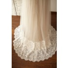 Princessly.com-K1000056-Empire Waist Maternity Cap Sleeves Lace Tulle Wedding Dress-01