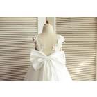 Princessly.com-K1003509-Ivory Lace Tulle V Back Wedding Flower Girl Dress with Big Bow-01