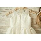 Princessly.com-K1003358-Ivory Lace Tulle Wedding Flower Girl Dress with Sheer Neck-01