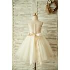 Princessly.com-K1003361-Light Champagne Lace Tulle Sheer Back Wedding Flower Girl Dress with Beaded Belt-01