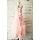 Princessly.com-K1003925-Boho Beach Pink Tulle Lace Wedding Flower Girl Dress-01