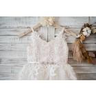 Princessly.com-K1003578-Ivory lace Tulle Spaghetti straps Wedding Flower Girl Dress with Beaded Belt-01