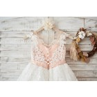 Princessly.com-K1003591-Cap Sleeves Ivory Lace Tulle Hi Low Wedding Party Flower Girl Dress with V Back/Beading-01