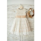 Princessly.com-K1003555-Champagne Satin Ivory Lace Cap Sleeves Wedding Flower Girl Dress with Bow Belt-01