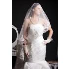 Mermaid Sweetheart Princess Waist Multi-tiered Vortex Rosettes Court Organza Bridal Dress