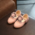 Princessly.com-K1003948-Ivory/Pink Leather Pearl Bead Flower Girl Shoes Wedding Party Princess Shoes-01
