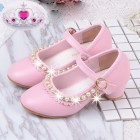 Princessly.com-K1004022-Ivory/Pink Leather Rhinestone Pearls Wedding Flower Girl Shoes High Heels Princess Shoes-01