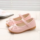 Princessly.com-K1003956-Ivory/Black/Red/Pink Bowknot Leather Wedding Flower Girl Shoes Kids Party Shoes-01