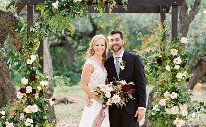 Outdoor Rustic Wedding with Princessly Flower Girl Dresses